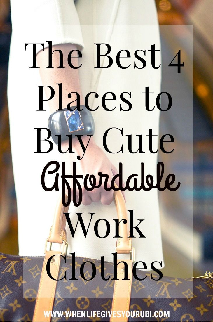 Buying work clothes on a budget is hard, take a tip from my closet and check out these 4 affordable places to buy cute work clothes on any budget.