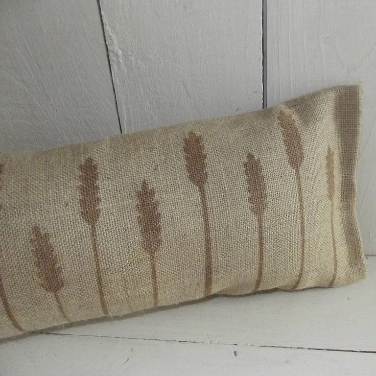 cornfield draught excluder cushion by rustic country crafts | notonthehighstreet.com
