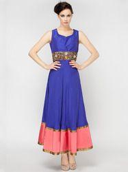 Blue Indo Western Dress