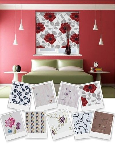 Floral Blackout Patterned Roller Blind