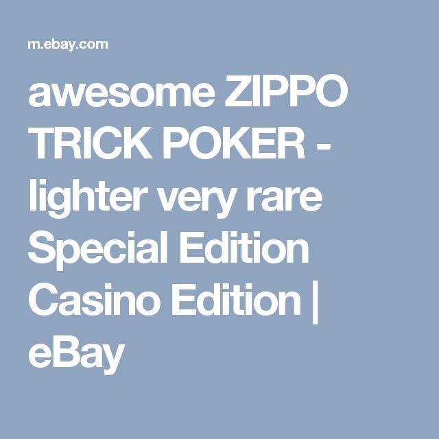 awesome ZIPPO TRICK POKER - lighter very rare Special Edition Casino Edition     eBay