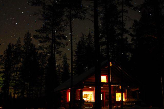 hirvipirtit lapland cabins, Taivalkoski Finland, stars above it