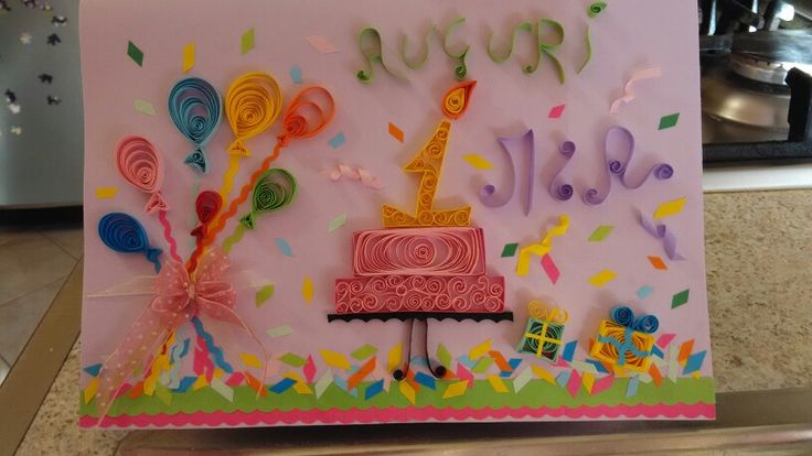 1°compleanno card