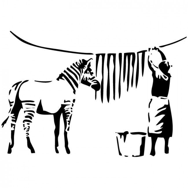 Banksy Zebra Drying Wall Sticker Banksy Wall Art