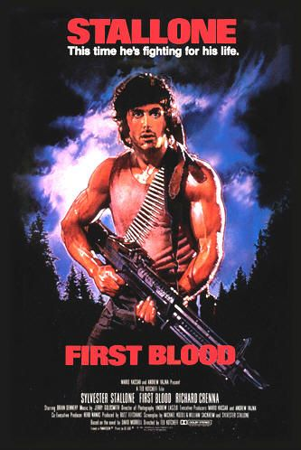 """First Blood (1982) - """"Don't push it. Don't push it. Or I'll give you a war you won't believe."""" - John Rambo"""