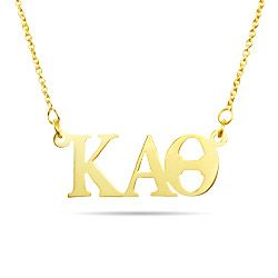 kappa alpha theta gold vermeil letter necklace 64 sorority