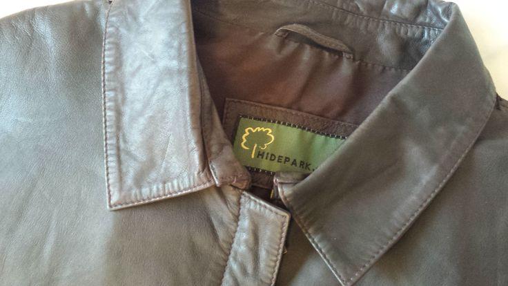 80's Ladies leather jacket - Vintage Ladies Brown leather Jacket - size 14 / 16 -Hidepack - by LuckSy on Etsy