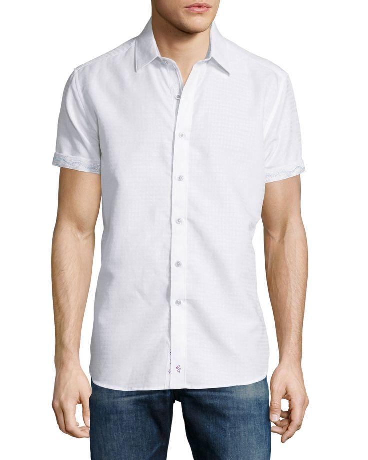 Santa Catalina Short-Sleeve Shirt, White, Men's, Size: XX-LARGE - Robert Graham