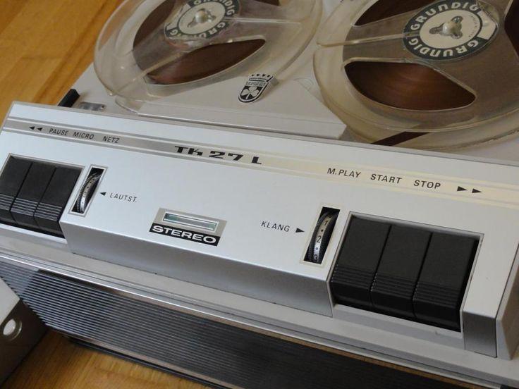 Бобинный ламповый магнитофон GRUNDIG TK 27L de Luxe 60-е гг. Стерео ! Винтаж ! Состояние !