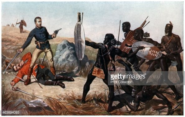 Incident at the Battle of Isandlwana AngloZulu War 22 January 1879 Lieutenants Melvill and Coghill dying to save the Queen's colours Isandlwana was a...