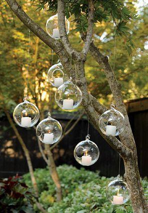 COMPRA AQUÍ: www.globosdeluz.com / Bodas rústicas / Eventos rústicos / Ideas originales para bodas / Decoraciones bodas / Rustic weddings /Glass Bubbles (Set of Six) | Candle Holders www.globosdeluz.com Globos de Luz burbujas colgantes / burbuluz