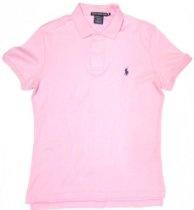 Ralph Lauren Sport Women's Polo Shirt in Caribbean Pink, Navy Pony (SLIM FIT)