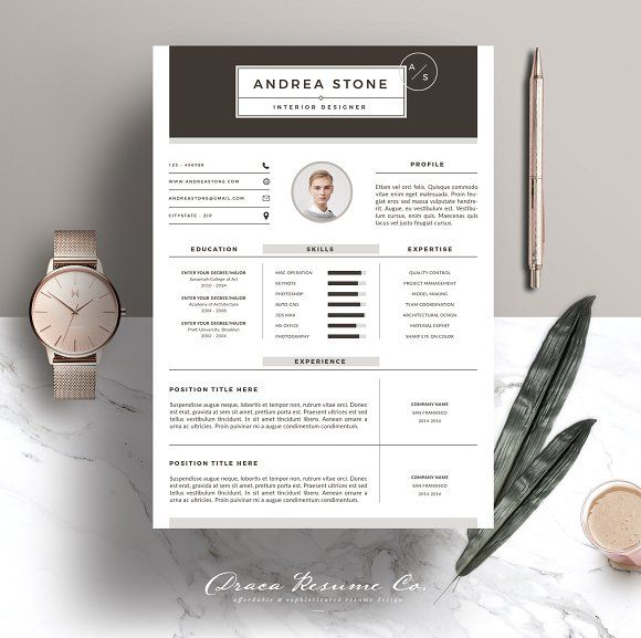 Resume Template 3 Page Pack | Brown  @creativework247
