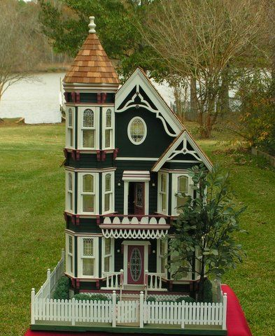 58 best images about antique doll houses on pinterest for Victorian style kit homes
