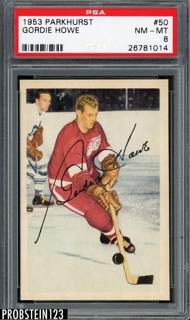 Sportsmemorbilia 1953 Parkhurst Hockey 50 Gordie Howe Red Wings