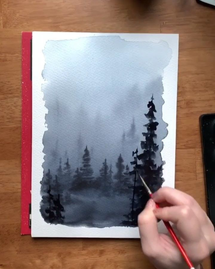 Kolbie On Instagram Using The Wet On Wet Technique To