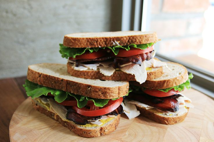 Turkey club sandwich with Turkey Breast and Bacon