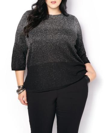 3/4 Sleeve Ombré Lurex Sweater   Penningtons