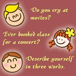 Fun questionnaires for friends