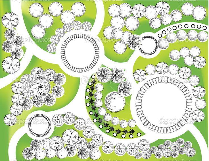 609 best images about landscape plans on pinterest for Site plan with landscape