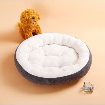 猫窝 猫睡袋四季猫床猫屋宠物用品泰迪吉娃娃金毛狗窝 灰色 小号