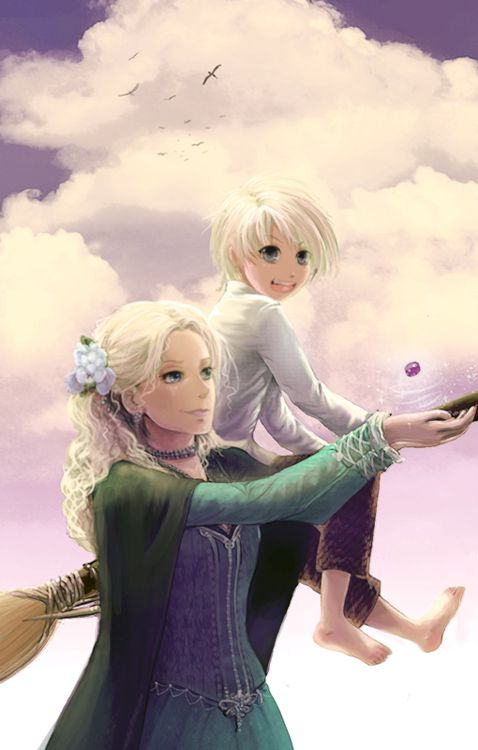 Draco Narcissa Malfoy by Sepsku.deviantart.com- Awwww this shows how sweet and innocent Draco was and how loving Narcissa is