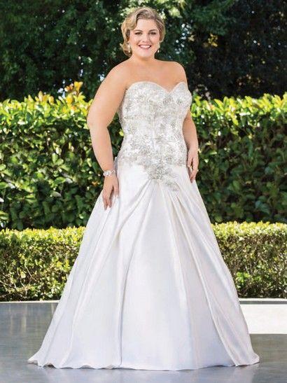 robe de mariée pour femme forte poitrine petite taille - Recherche Google