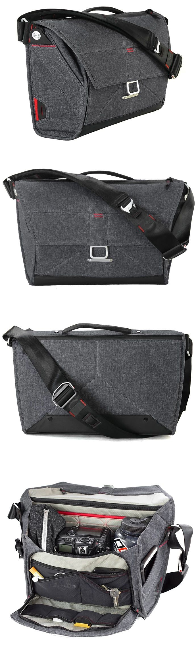 This is the ultimate bag for carrying your life!  I just finished designing it with Peak Design in San Francisco.  See https://www.kickstarter.com/projects/peak-design/the-everyday-messenger-a-bag-for-cameras-and-essen/description for more.