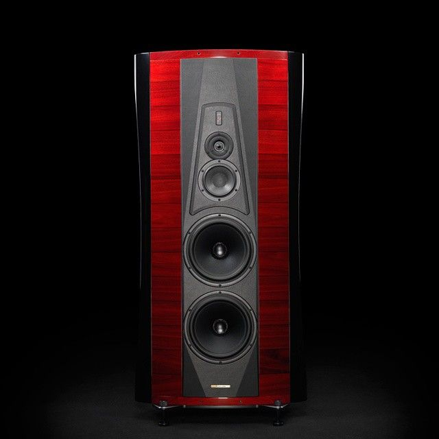 The new #lacquer of the #Sonusfaber #Homage Collection is called #Red #Piano. Discover it on our website: www.sonusfaber.com