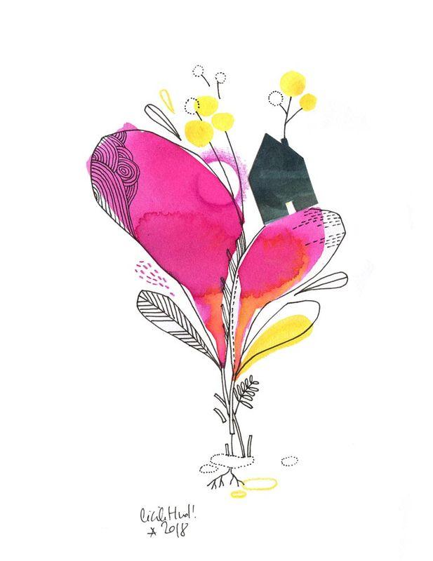 Pied A Terre N 3 Les Chosettes Art Floral Illustration D