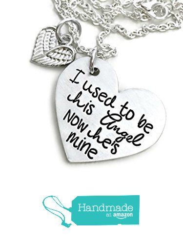 Angel - I Used To Be His Angel Now He's Mine - Memorial Jewelry - Hand Stamped Jewelry - Personalized Jewelry from Danielle Joy Designs https://www.amazon.com/dp/B01B3R5IMI/ref=hnd_sw_r_pi_dp_4c4tyb0BFH2DD #handmadeatamazon