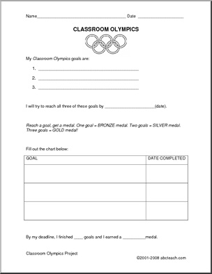 Classroom Olympics  Check out this and eight other pages for use in school or homeschool Olympic themes.