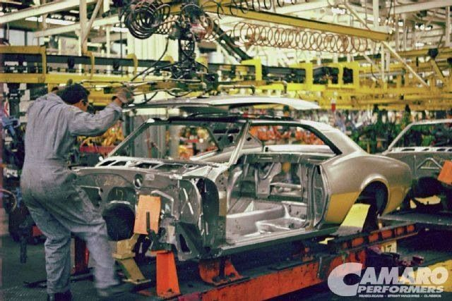 1967 Camaro on the assembly line back in the day.--http ...