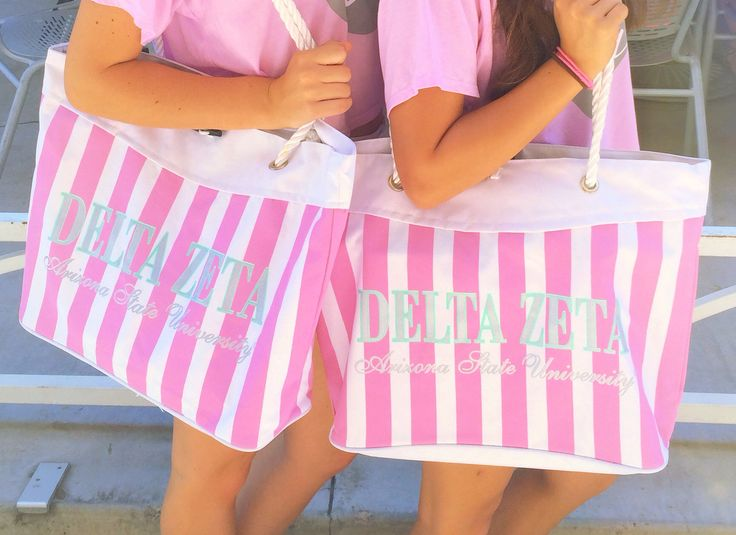 Bid Day bags for VS Pink theme