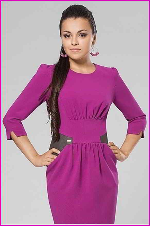 Платье цвета фуксии 1
