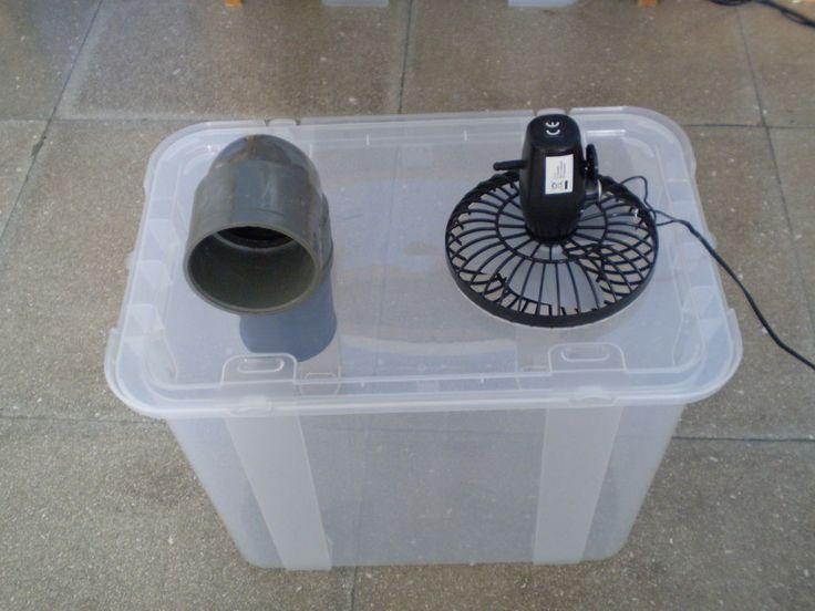 Einfache billige Klimaanlage Schöne Idee. Ich frage mich, wie gut es funktionieren würde. Warum n