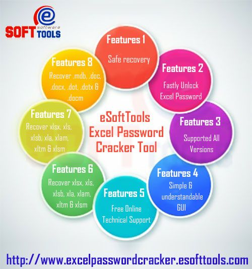 eSoftTools Excel Password Cracker cracks the password of excel. It can also recover passwords of word & access. Excel Password Recovery gives users the method of dictionary attack that will help users to unlock files of excel, word & access.  Get Details: http://www.excelpasswordcracker.esofttools.com/