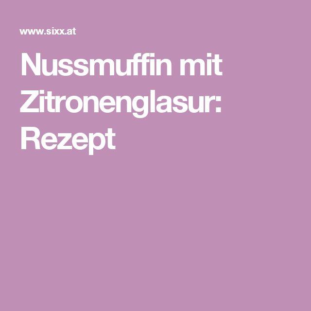 Nussmuffin mit Zitronenglasur: Rezept