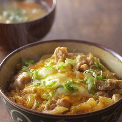 "Oyakodon Chicken and Egg Rice Bowl | An oldie but a goodie, this classic Japanese rice dish wins hands down on the taste and ease front. Oyakodon is a 'donburi' style of Japanese dish where a tasty topping is laid over a bowl of freshly boiled rice. Oyako literally translates as ""parent and child"", a cute reference to the perfect combination of chicken and egg in this recipe. Seasoned with soy, mirin and dashi it ticks all the right umami boxes."