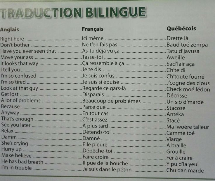 how to say quebec in french