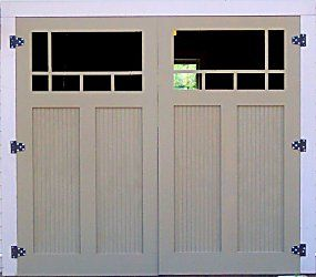 Great blog on building your own traditional carriage style for Build carriage garage doors