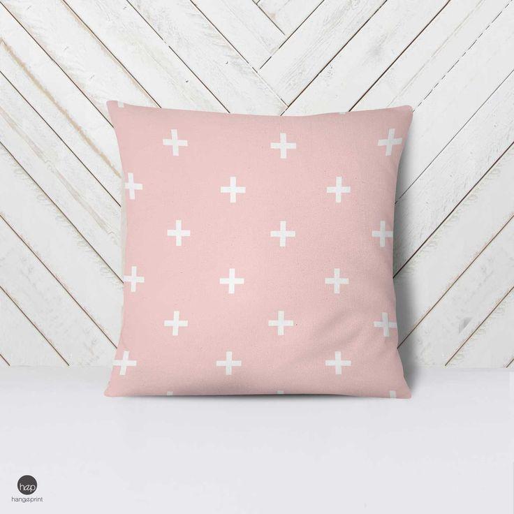 Modern Nursery Pillow, Modern Pillow Case, Swiss Cros Pillow, Minimalist Bedding, Gender Neutral, White Nursery, Baby Pillow Case, Geometric by hangAprint on Etsy