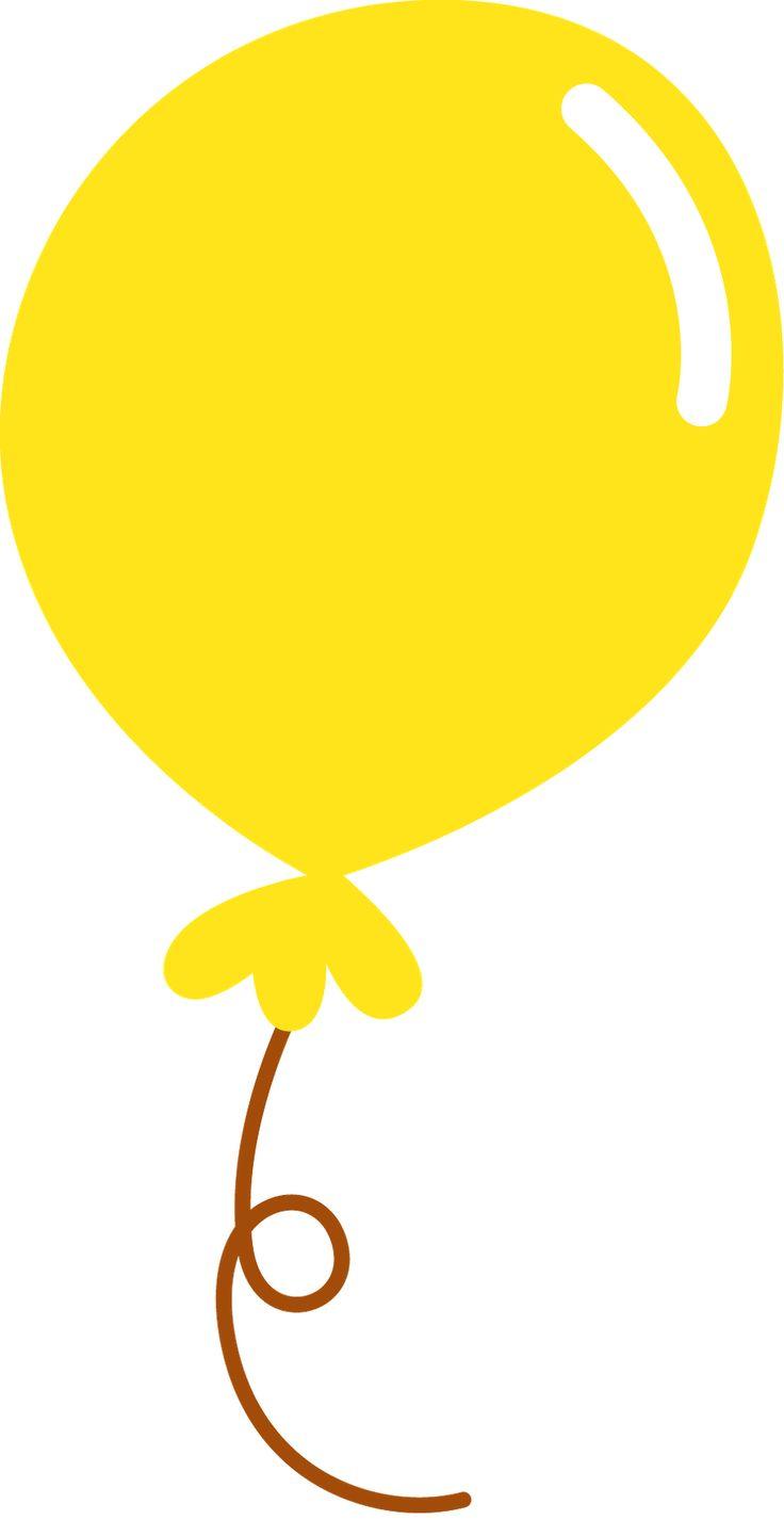 clipart yellow balloons - photo #38