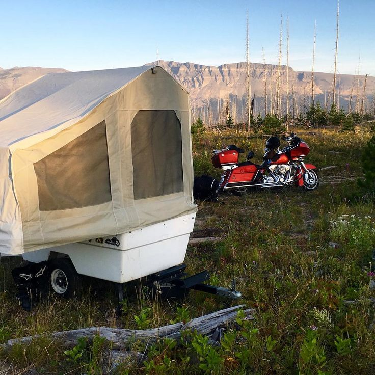 Mini Mate Motorcycle Camper by Kompact Kamp Trailers.