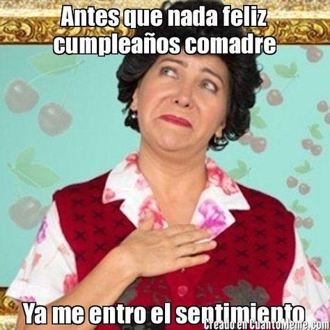 Feliz Cumple Comadre Felicitacion Cumpleaños Happy Birthday