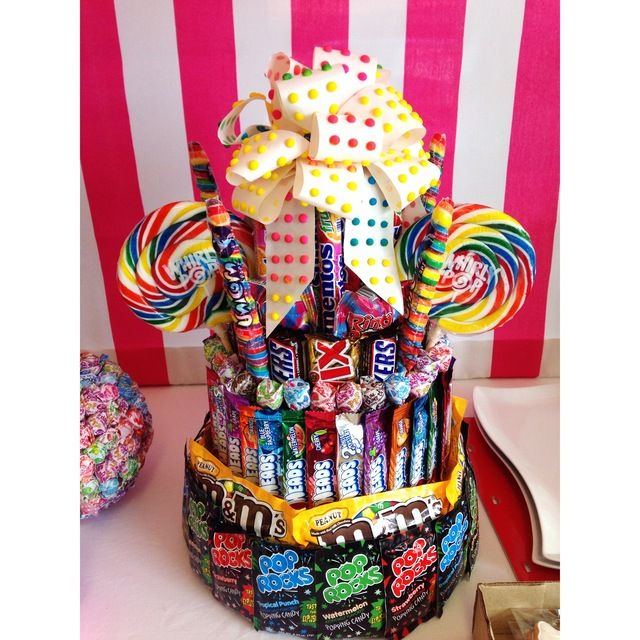 Sweet Shoppe Birthday Party Centerpiece!  See more party ideas at CatchMyParty.com!