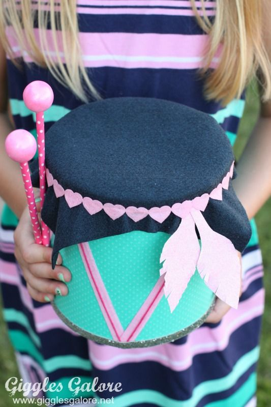 DIY Drum Passport to Imagination Music Festival project and Gymboree Outfit