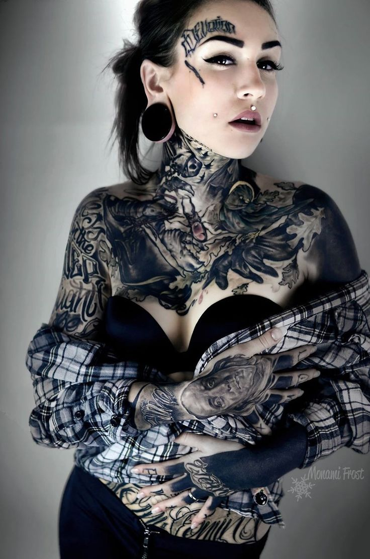 tattoos neck with Girls full