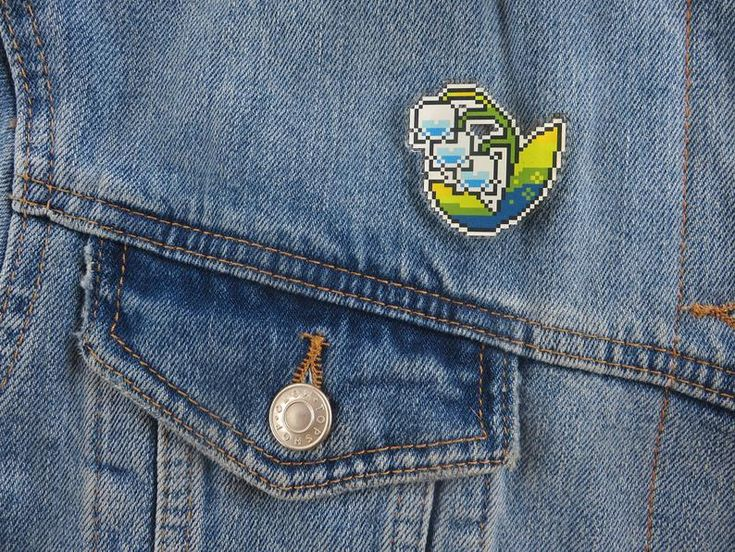 Jacobs Ladder/ Lily of the valley pin (animal crossing