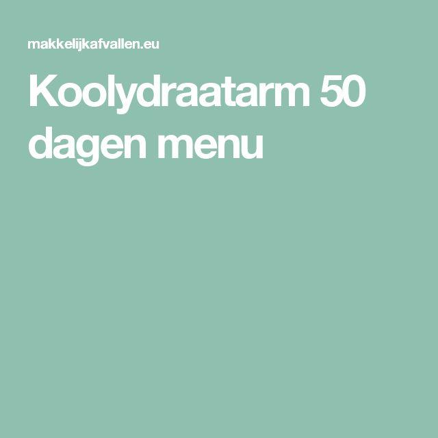 Koolydraatarm 50 dagen menu
